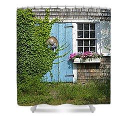 Millway Scene In Barnstable Shower Curtain