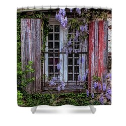 Mill Window Framed By Wisteria  Shower Curtain