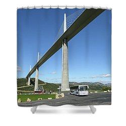 Millau Viaduct Shower Curtain