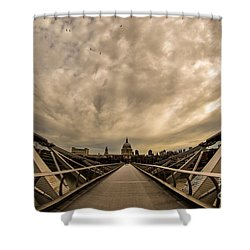Millennium Bridge Shower Curtain