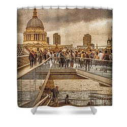 London, England - Millennium Bridge II Shower Curtain