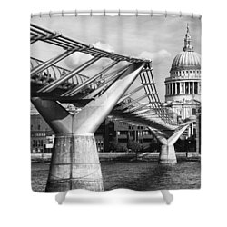Shower Curtain featuring the photograph Millennium Footbridge by Shirley Mitchell