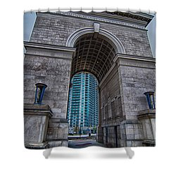Millennium Gate Triumphal Arch At Atlantic Station In Midtown At Shower Curtain