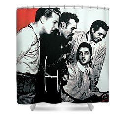 Million Dollar Quartet Shower Curtain