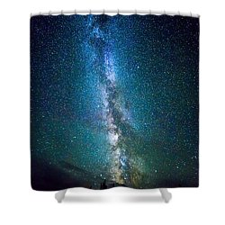 Millky Way Over Lodgepole Pines Shower Curtain