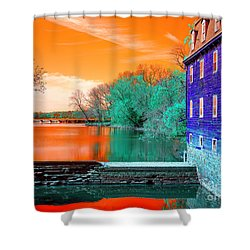 Shower Curtain featuring the photograph Millstone River Pop Art by John Rizzuto
