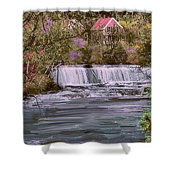 Millstream Shower Curtain by John Selmer Sr