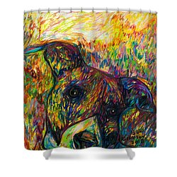 Milo Two Shower Curtain