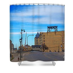 Milwaukee Cold Storage Co Shower Curtain by David Blank