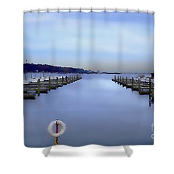 Milwaukee Marina November 2015 Shower Curtain
