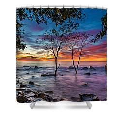 Milwaukee Rise Shower Curtain