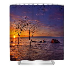 Milwaukee Rising Shower Curtain