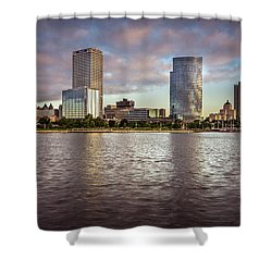 Milwaukee Skyline Shower Curtain