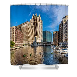Milwaukee Summer Nights Shower Curtain