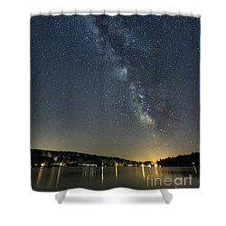 Milky Way From A Pontoon Boat Shower Curtain
