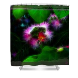 Shower Curtain featuring the photograph Mimosa Flower by EricaMaxine  Price