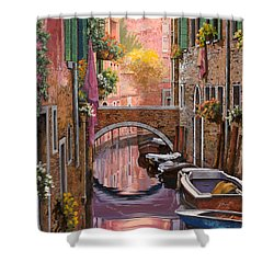 Mimosa Sui Canali Shower Curtain by Guido Borelli