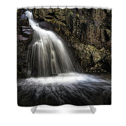 Mina Sauk Falls Shower Curtain by Jae Mishra