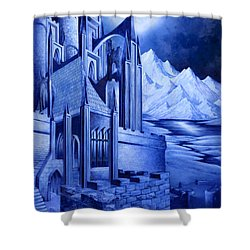 Minas Tirith Shower Curtain by Curtiss Shaffer