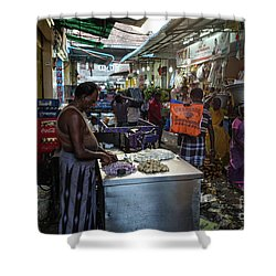 Shower Curtain featuring the photograph Mincing Garlic by Mike Reid