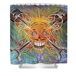 Mind Blown Motorhead  Shower Curtain by Alan Johnson