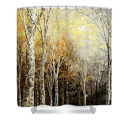 Mindful Melodies Shower Curtain by Tatiana Iliina