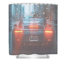 Mine In The Rain Shower Curtain by Ericamaxine Price