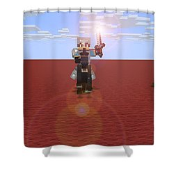 Minecraft Knight Shower Curtain