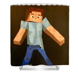 Minecraft Steve Shower Curtain by Sheri Keith via Jayd