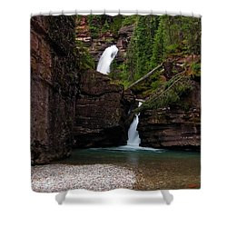 Shower Curtain featuring the photograph Mineral Creek Falls by Steve Stuller