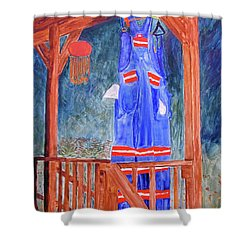 Miner's Overalls Shower Curtain