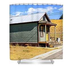 Miners Shack In Montana Shower Curtain