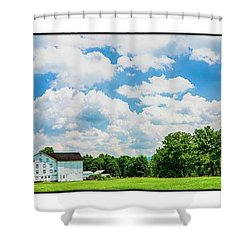 Mingoville Clouds Shower Curtain by R Thomas Berner