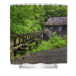 Shower Curtain featuring the photograph Mingus Mill 2 Mingus Creek Great Smoky Mountains Art by Reid Callaway
