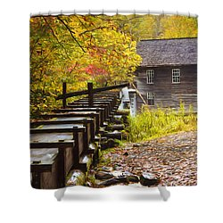 Mingus Mill Painted Shower Curtain