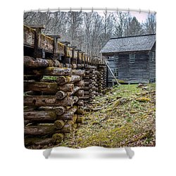 Mingus Millrace And Mill In Late Winter Shower Curtain