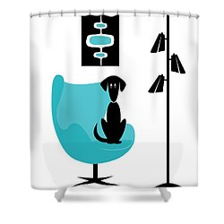 Mini Mod Pods On White With Dog Shower Curtain