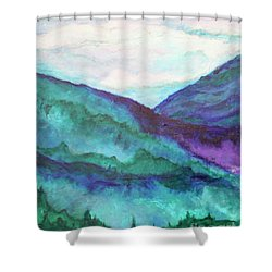 Mini Mountains Majesty Shower Curtain