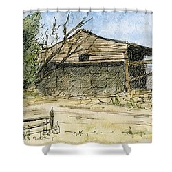 Mini No 1 Old Hay Shed Shower Curtain