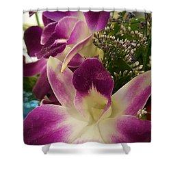 Mini Orchids  Shower Curtain