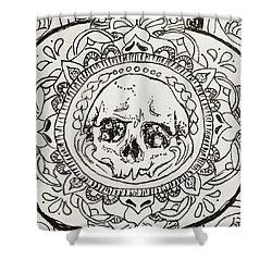 Skull Mandala Shower Curtain