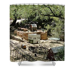 Mini Town Shower Curtain