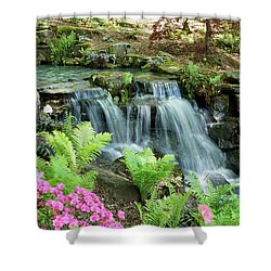 Shower Curtain featuring the photograph Mini Waterfall by Sandy Keeton