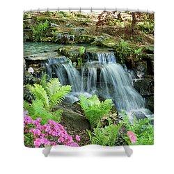 Mini Waterfall Shower Curtain by Sandy Keeton