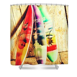Miniature Surfboard Decorations Shower Curtain