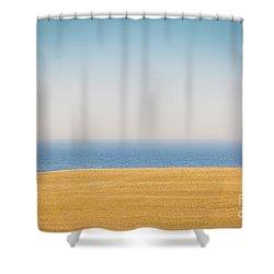 Minimal Lake Ontario Shower Curtain
