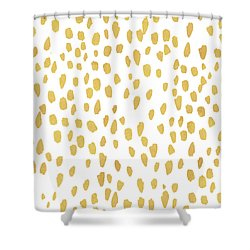 Minimalist Is Gold Shower Curtain
