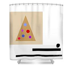 Minimalistic Christmas Shower Curtain