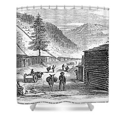 Mining Camp, 1860 Shower Curtain by Granger