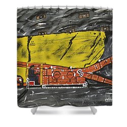 Coal Mining  Shower Curtain by Jeffrey Koss